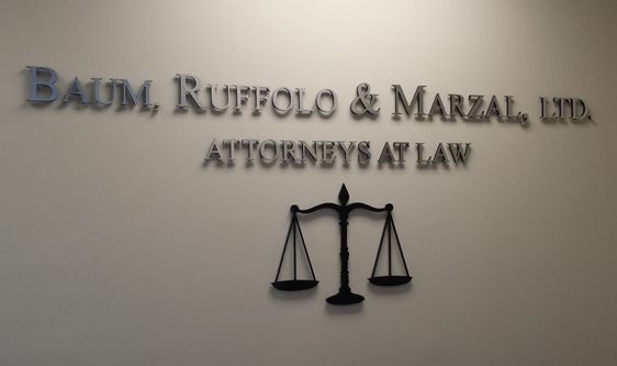 Example of interior signs by Signarama for attorneys.